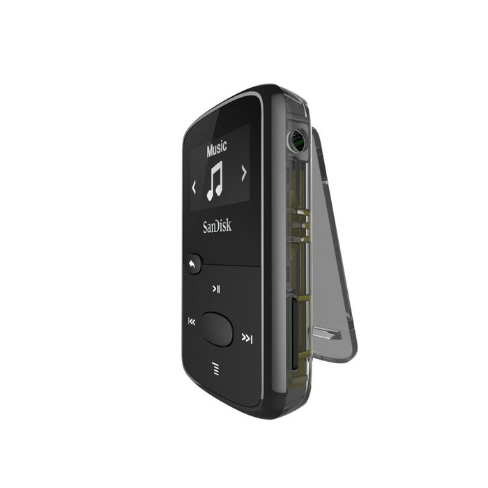 SanDisk CLip Jam MP3 Player 8GB, microSDHC, Radio FM, Black