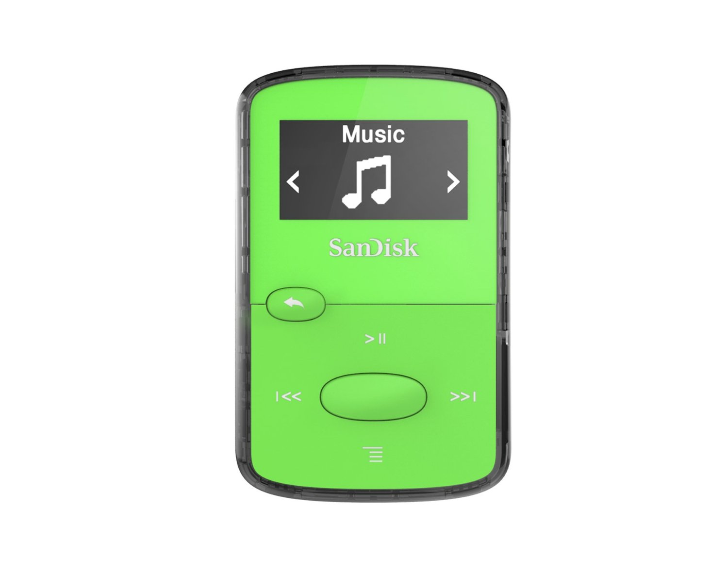SanDisk CLip Jam MP3 Player 8GB, microSDHC, Radio FM, Green