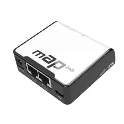 MikroTik mAP L4 64MB RAM, 2xLAN (PoE In & Out), 2.4Ghz 802.11b/g/n AccessPoint