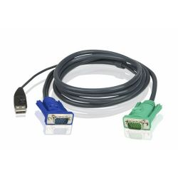 ATEN KVM Cable (HD15-SVGA, USB, USB) - 1.2m (KVM, Video switch)