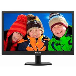 "Philips 243V5LSB/00 23.6"" FullHD fekete LED monitor"