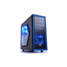 DeepCool Tesseract SW (2x12cm ventilátor, ATX, mATX) fekete számítógépház
