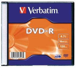 Verbatim AZO, 4,7GB, 16x, vékony tok, DVD-R lemez