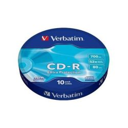 Verbatim 43725 Extra Protection, 700MB, 52x, 10db CD-R lemez