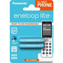 "PANASONIC ""EneloopLite"" 2x550 mAh AAA mikro tölthető elem"
