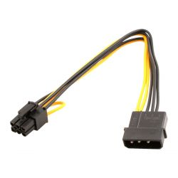 SAPPHIRE CA00085-R0 SAPPHIRE CABLE, PCI-E POWER CABLE 250MM W/DOUBLE 12V & GRN (4 PIN TO 6 PIN)