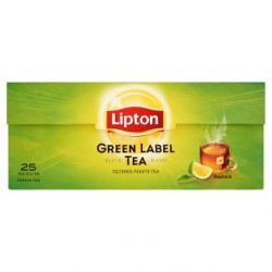 Lipton Green label 25x2g filteres fekete tea