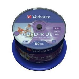 Verbatim DVD+R DL [ spindle 50   8,5GB   8x ] nyomtatható Double Layer DVD lemez (Adathordozó)