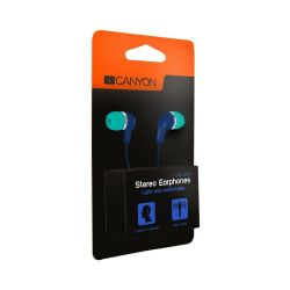 CANYON CNS-CEPM02GBL Stereo kék-zöld headset (Headset)