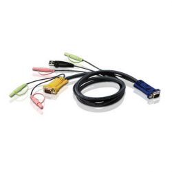 ATEN KVM Cable (HD15-SVGA, USB, USB, Audio) - 1.8m