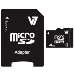 V7 4GB SDHC Class 4 memóriakártya adapterrel