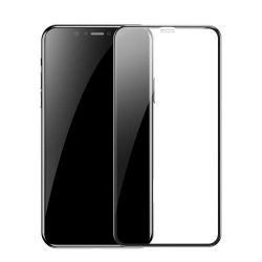 Baseus iPhone Xr 6.1 repedésálló fekete 0.23mm edzettüveg kijelzővédő fólia