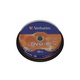 Verbatim DVD-R [ cake box 10db | 4,7GB | 16x | matt ezüst ] DVD lemez