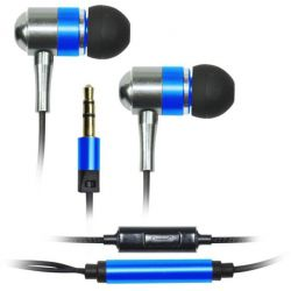 Vakoss SK-225EB fém sztereó kék mikrofonos fülhallgató