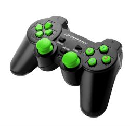 Esperanza Gamepad USB Warrior fekete, zöld kontroller