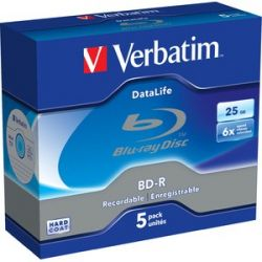 Verbatim BD-R [ Jewel Case 5 | 25GB | 6x BluRay lemez (Adathordozó)