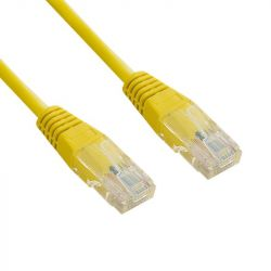 4World Patchcord RJ45, törésgátló, Cat. 5e UTP, 1.8m, sárga - retail