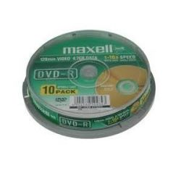 MAXELL DVD-R 4.7GB 10db/Henger 16x DVD lemez (Adathordozó)