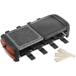 Bestron ARC800 fekete-piros raclette grill