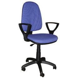 """""""Megane"""" LX szövetborítású karfás kék irodai forgószék"""