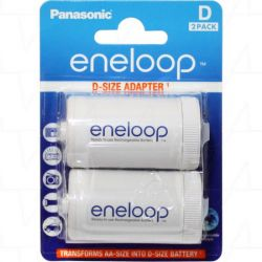 Panasonic Eneloop Adaptor R20/D, 2 pcs, Blister akku elem