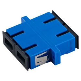 4World 08676 SC, UPC, DX SM kék-fekete optikai adapter
