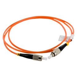 4World 08705 Patchcord FC/UPC-FC/UPC, SX MM, G652D, 1m narancs-fekete optikai kábel