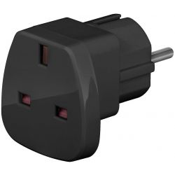 Techly UK/EU 13A, UK/BS - CEE 7/7 hálózati adapter