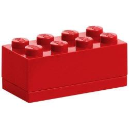 LEGO® 40121730 Classic 4x2 piros mini tárolódoboz