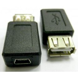 Value USB 2.0 A (Female) - mini B (Male) USB Átalakító adapter
