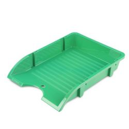 DONAU Solid zöld műanyag irattálca