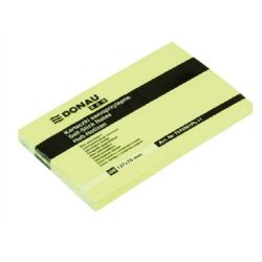 "DONAU ""ECO"" 127x76mm 100 lapos sárga öntapadó jegyzettömb"