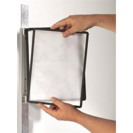 Durable Vario® 5 Magnet mágneses fekete fali bemutatótábla tartó 5 db bemutatótáblával