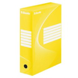 "ESSELTE ""Standard"" A4 100 mm karton sárga archiváló doboz"