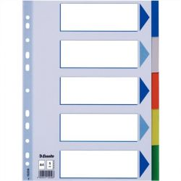 ESSELTE A4 5 részes műanyag regiszter