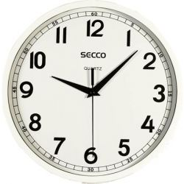 SECCO 24,5 cm fényes fehér keretes falióra