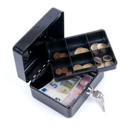 DONAU 15,2x11,5x8 cm fekete pénzkazetta