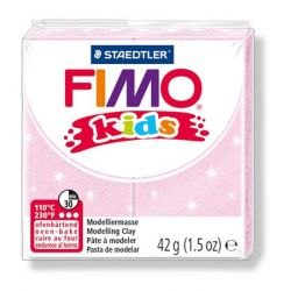 Fimo Kids égethető gyöngyház világos rózsaszín gyurma (42 g)