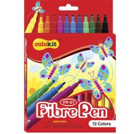 """COLOKIT """"FibrePen"""" 12 különböző színű filctoll készlet"""