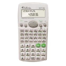 """VICTORIA """"GVT-736"""" tudományos környezetbarát fehér számológép 283 funkcióval"""