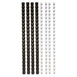FELLOWES 6 mm, 10-20 lap, műanyag fekete spirál (25 db)