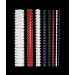 FELLOWES 10 mm, 41-55 lap, műanyag fehér spirál (25 db)
