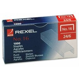 Rexel No.16 24/6 tűzőkapocs (1000 db/doboz)