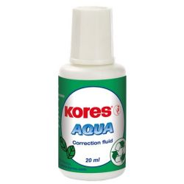 """KORES """"Aqua"""" 20 ml vízbázisú hibajavító folyadék"""