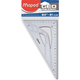 """MAPED """"Geometric"""" 60° 21 cm műanyag háromszög vonalzó"""