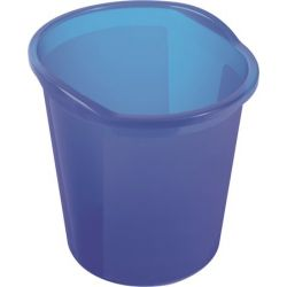 Helit Economy 13 literes áttetsző kék papírkosár