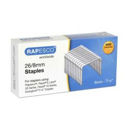 Rapesco 26/8 tűzőkapocs (5000 db/doboz)