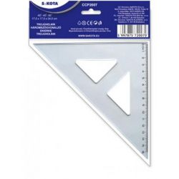 Sakota 16 cm 45° műanyag háromszög vonalzó