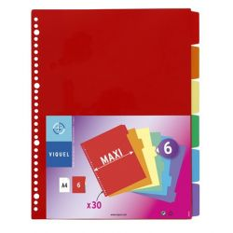 VIQUEL A4 maxi 6 részes műanyag regiszter