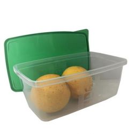 Szögletes 0,8 l műanyag 3 db-os ételtartó doboz szett fedővel